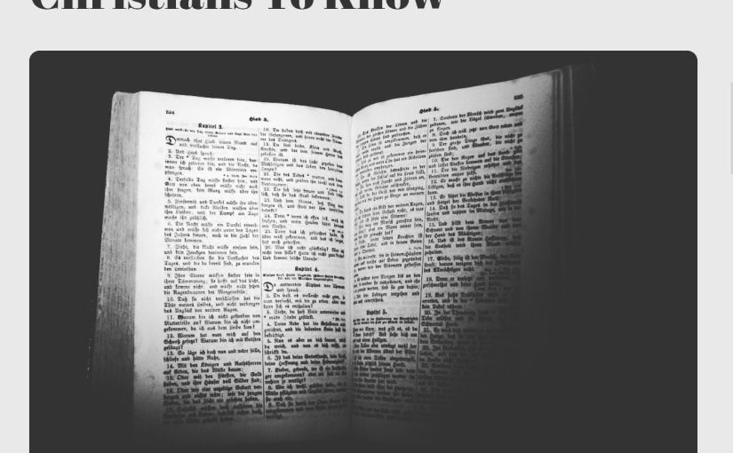 Things Non-Christians Want Christians ToKnow